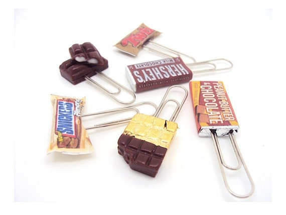 Miniature Chocolate Paper Clips