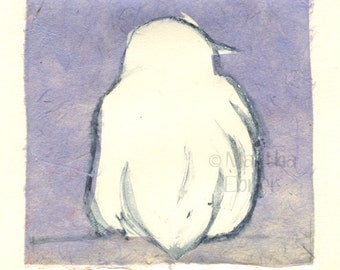 "Bird Print Monotype ""Rest II"" with Chin Collé"