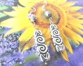 Light-weight silver long dangle earrings