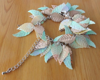 Leafy dangle bracelet