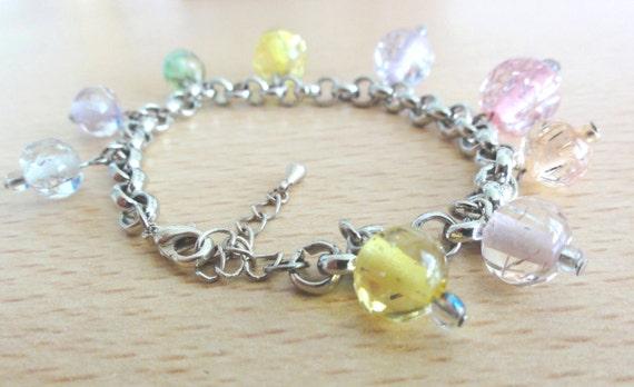 Bead charms bracelet