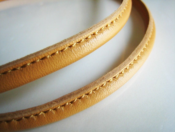 1 Yard of 6mm Natural Round Leather Cord