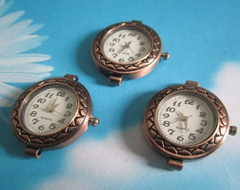 1pc copper oval watch face charms--moving--battery included