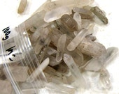 BACK IN STOCK   Rough Quartz with Inclusions Points - 100 gram bag