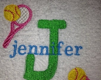 Personalized Tennis Towels