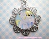 Derpy Hooves My Little Pony Friendship is Magic Meme Cameo Pendant Necklace