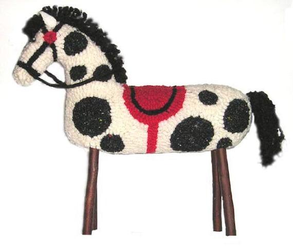 Stuffed Horse Kit Original Hooked Rug By Maryellenwolffdesign