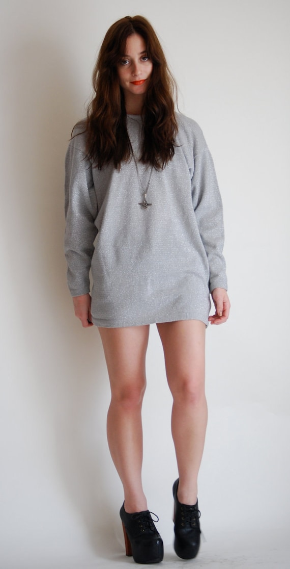 1980's Gray Sparkling Sweater