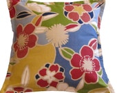 SALE -- Flower Print Pillow Cover