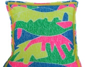 SALE -- Child's Dinosaur Throw Pillow Cover