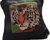 Petit Point Tiger Pillow