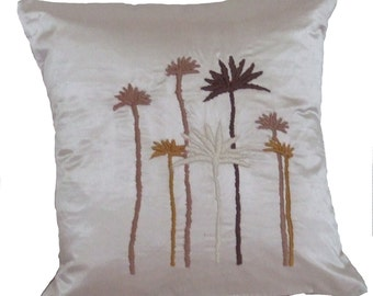 Satin Hand Embroidered Pillow