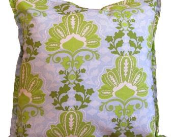 Green & Blue Print Pillow