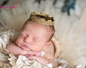 READY to SHIP SALE Blaire Vintage Baby Infant Gold Crown  Photo Prop