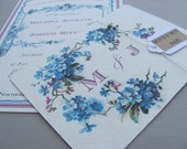 DIY PDF Vintage Postcard Wedding Invitation Suite
