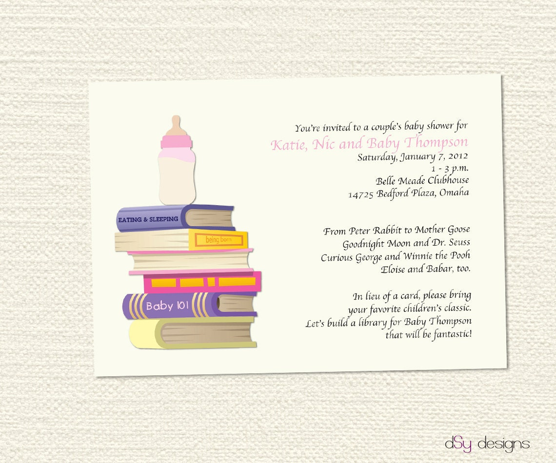 Library Card Baby Shower Invitation for amazing invitations layout