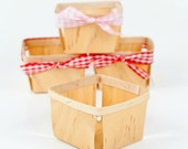 10 Wood Berry Baskets