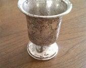 Vintage sterling silver small vase