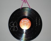Repurposed Upcycled Vinyl Record LP Hanging Earring Holder Wall Hanging Music Lover Gift Rockstar Girl