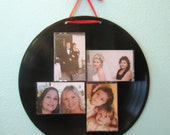 Upcycled Vinyl Record Cassette Tape Case Photo Collage Picture Frame Wall Hanging