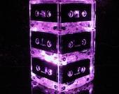Pink Cassette MixTape Night Light Lamp Centerpiece