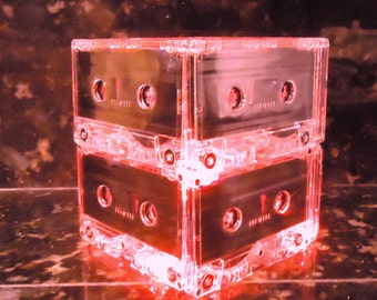 Red Wedding Centerpiece Cassette Tape Light