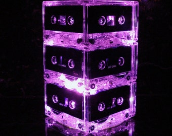 Pink Cassette MixTape Night Light Lamp Centerpiece