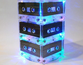 Music Themed Wedding Table Centerpiece MixTape Light 80s 90s retro Mixtape Light
