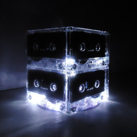 Retro Cassette Tape Mixtape Night Light Lamp Lighted Centerpiece Music Lover gift