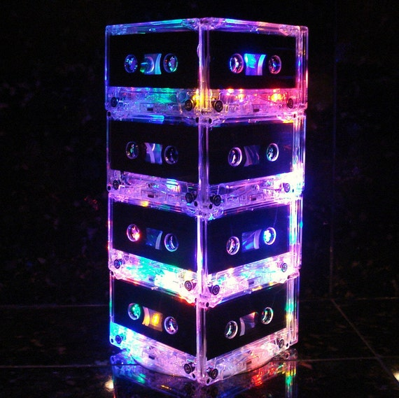 Music Lover MixTape Light Multi-Color Cassette Tape Table Lamp Retro Unique Lighting 80s lover rock n roll lamp