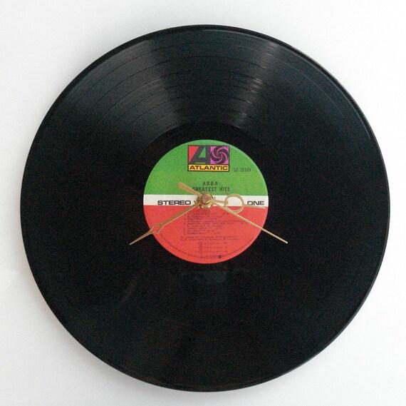 """Vinyl Record Wall Clock ABBA """"Greatest Hits"""""""