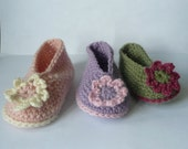 BABY Booties Crochet PATTERN Delightful Daisy Baby Shoes INSTANT Download