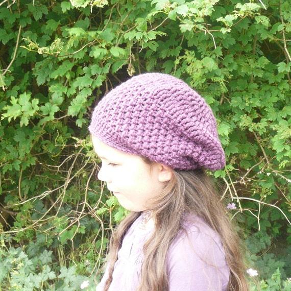 Items similar to Crochet PATTERN SLOUCHY HAT Blackberry ...