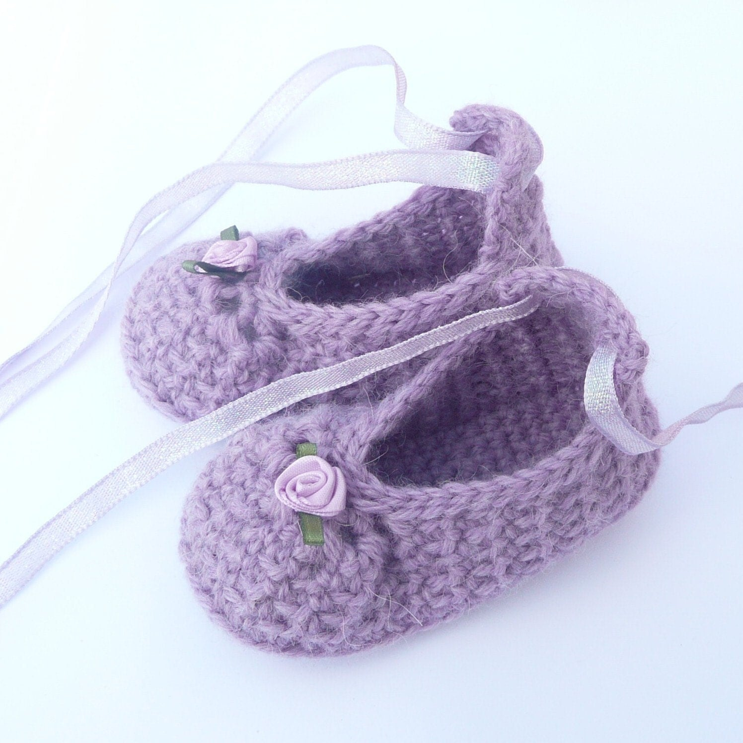 Baby Booties Dresses Christening Gown Crochet Patterns : BABY Booties CROCHET PATTERN Posh Purple Party by Keen2Crochet