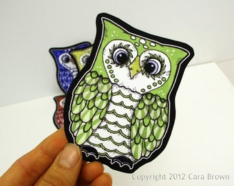 Owl Sticker Vinyl Car Decal Waterproof for craft, device, indoor/outdoor single you choose color/size