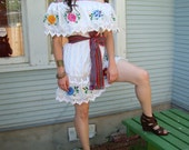 Saucey Senorita Mexican embroidered mini dress with FREE belt