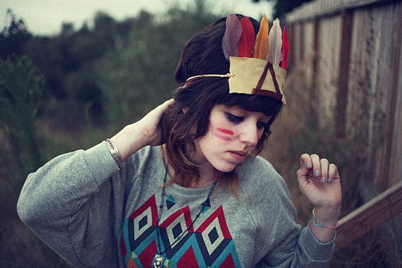The All-Seeing Eye- Native American inspired Headdress