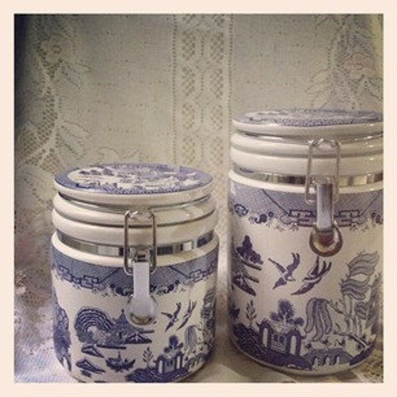 Blue Willow Canisters