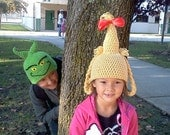 Grinch & Cindy Lou Who hats - any size - nb-adult