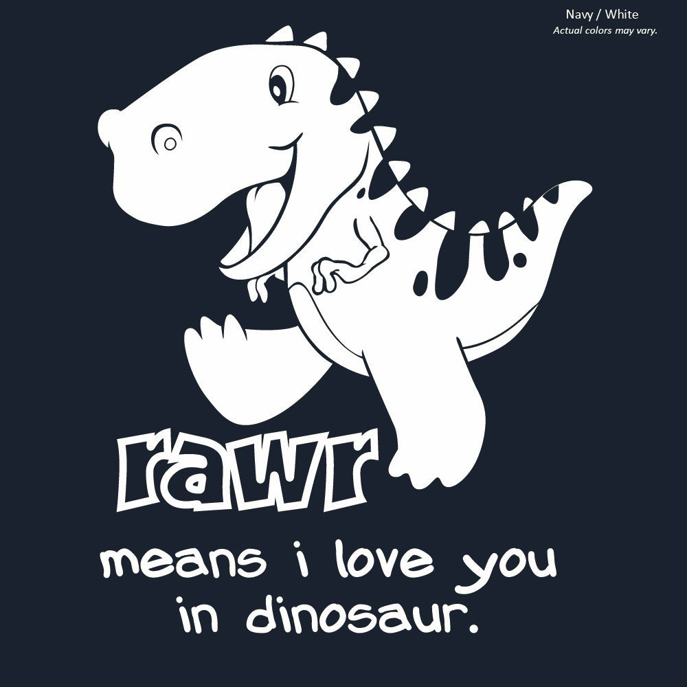 NEW Rawr Means I Love You in Dinosaur Onesie Baby by ...