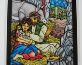 Full Size The First Christmas Stained Glass Print
