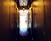 The Alleyway- Matted Photograph- New Orleans Art- Golden Light