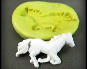 horse  Silicone mold -  push mold - handmade mold -  Food mold -  craft mold - clay mold -( 7 s )