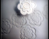 Sale was 6.00 now 4.00, Ceramic Clay Stamp, Bisque Stoneware Stamp, for ceramic clay,  polymer clay, metal clay, soap and crafts. ( 0161 )
