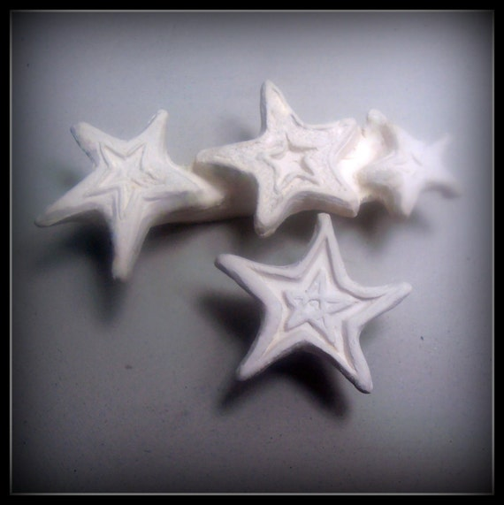 Handcaved Stamps, Pottery Supplies, Clay Stamp, Bisque Stamps, Stars /Stars ( 0160 )