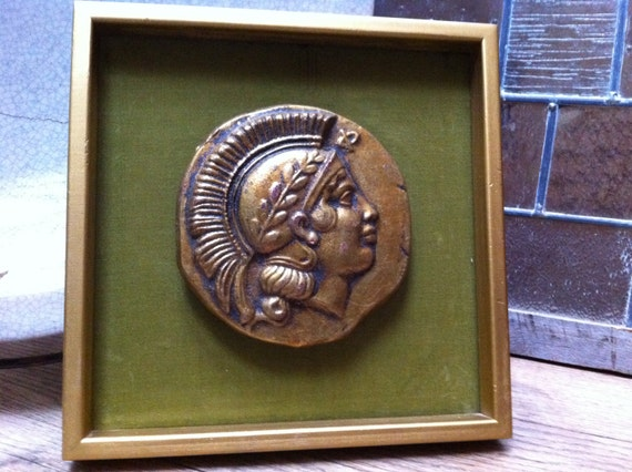 Funky Wall Decor Coin Medallion Velvet Art 60's Home