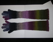 Hand Knitted Gloves, Over-the-Elbow Length