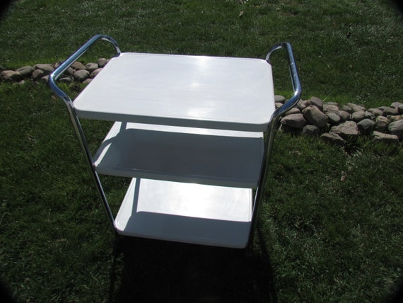 vintage kitchen utility cart by prairietreasure on etsy