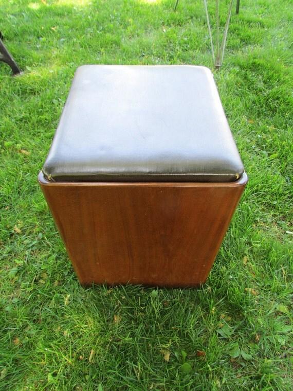 Singer Art Deco Sewing Stool Vintage Bench