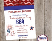 Stars & Stripes Patriotic FULL Printable Collection- Invite, Party Tags, Bunting Banner, Station Cards, Cupcake Wrapper, Water Bottle Label